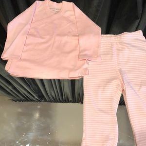 NWOT Baby Wrap Front Organic Cotton Shirt/Pant Set